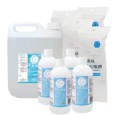 生發 清菌酒精75% (4000mlx1桶+500mlx4瓶+噴頭x4支組)