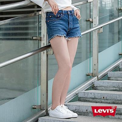 Levis 女款 501 排釦牛仔短褲 抽鬚不收邊 彈性布料