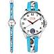 Disney 迪士尼 漫威系列 美國隊長 盾牌 兒童錶 卡通錶 皮革手錶-白x藍/32mm product thumbnail 1