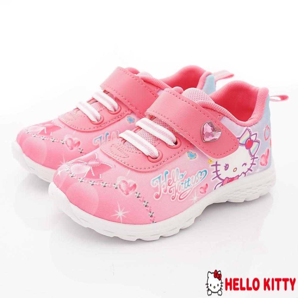 HelloKitty童鞋 晶亮抗菌運動款 SE18735桃(中小童段)