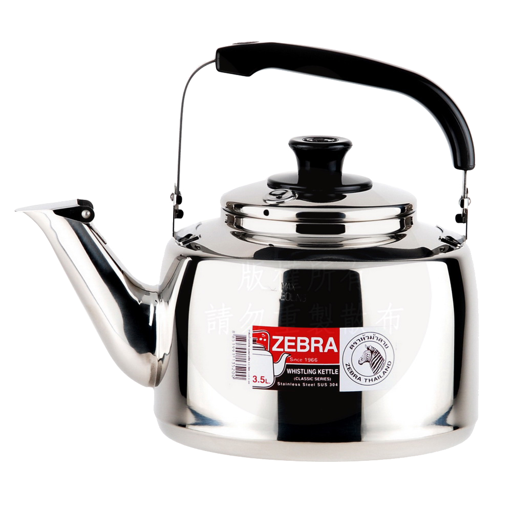 ZEBRA斑馬304不鏽鋼笛音壺(A)3.5L