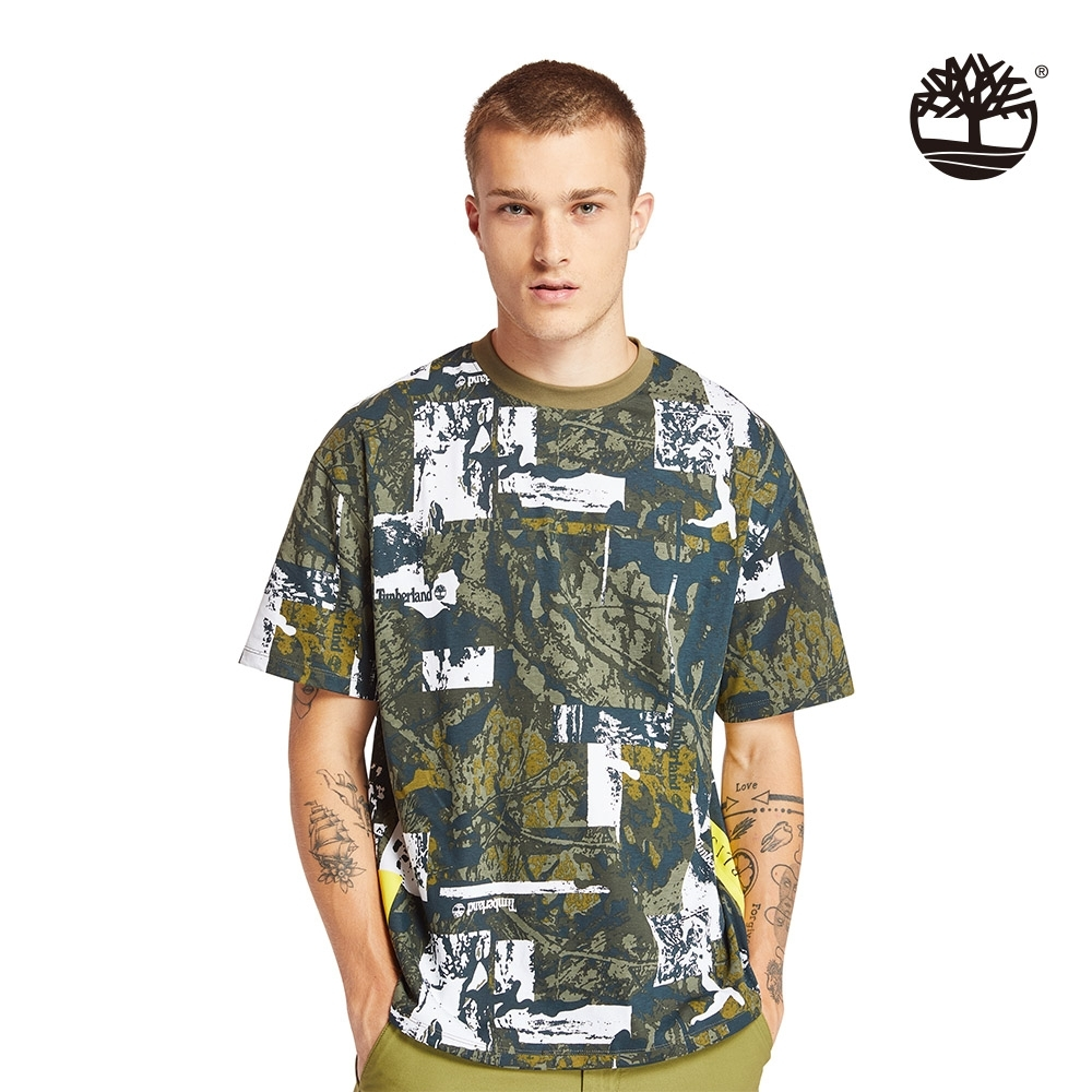 Timberland 男款迷彩印花寬鬆短袖圓領T恤|A22SY