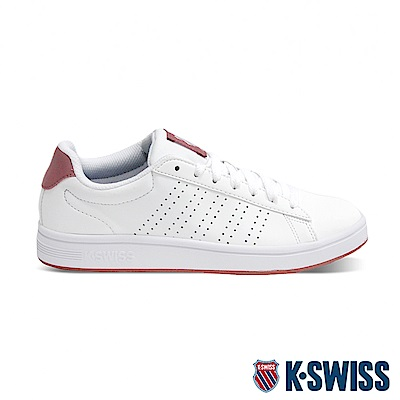 K-SWISS Court Casper S時尚運動鞋-女-白/乾燥玫瑰