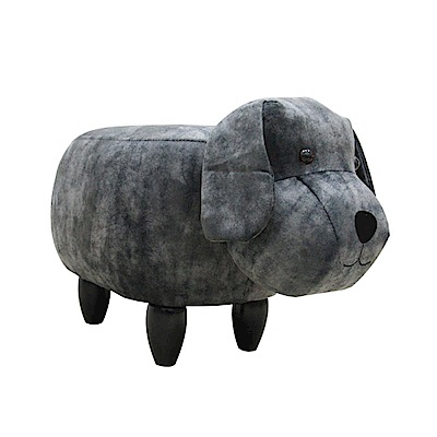 CLORIS 狗狗動物造型椅/沙發矮凳/四腳椅 (黑色)