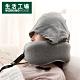 【生活工場】機能收合式附帽頸枕-淺灰 product thumbnail 1
