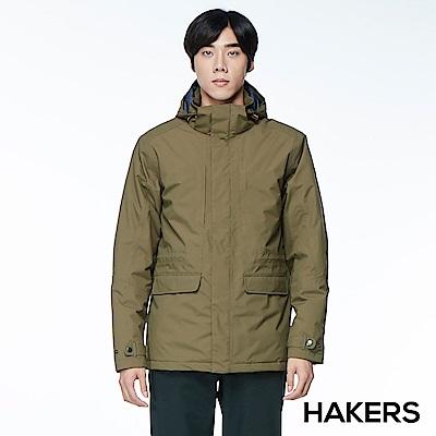 【HAKERS 哈克士】男款 保暖休旅外套(橄欖色)