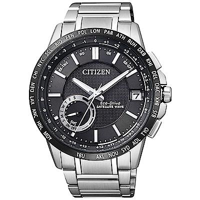 CITIZEN 星辰光動能 衛星對時男錶(CC3007-55E) 黑/43mm