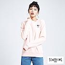 買一送一 BONBON法鬥哥 小刺繡厚長袖T恤-女-粉色