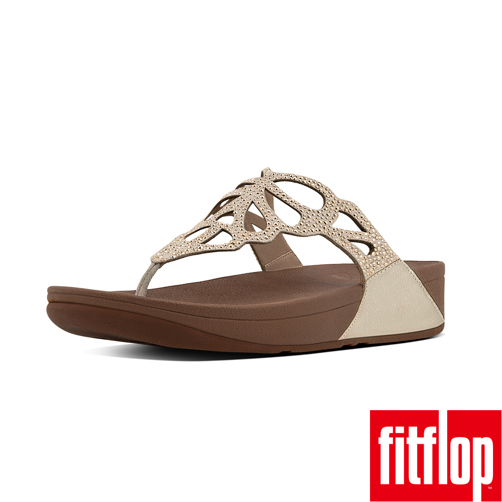 FitFlop BUMBLE CRYSTAL TOE-THONG-金色