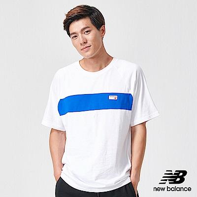 New Balance復古Logo拼接短袖T恤AMT91510WT_男_白