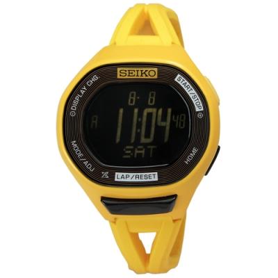 SEIKO 精工 Prospex 20周年限量款 電子 橡膠 運動腕錶-黃色/45mm