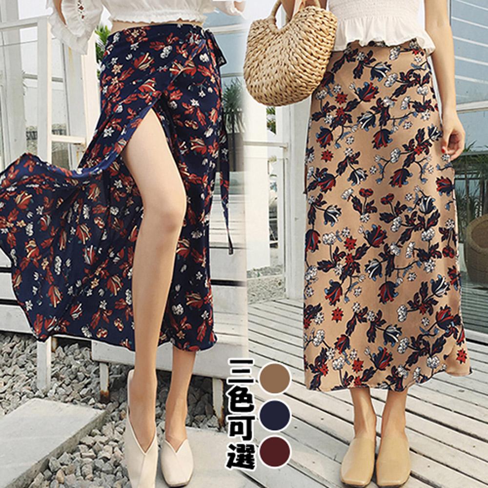 【韓國K.W.】氣質好衣純淨半身裙-3色