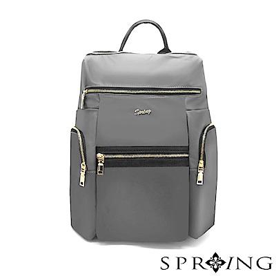 SPRING-微光澤輕量旅行後背包-古銅灰