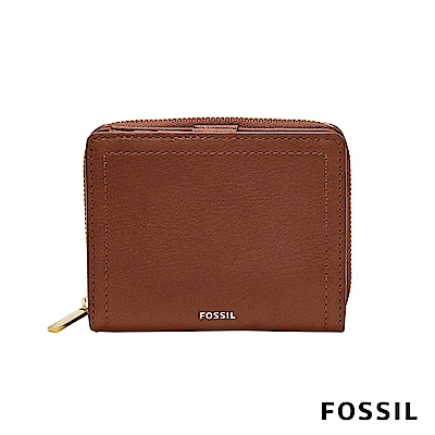 FOSSIL LOGAN RFID 迷你多功能短夾-咖啡色