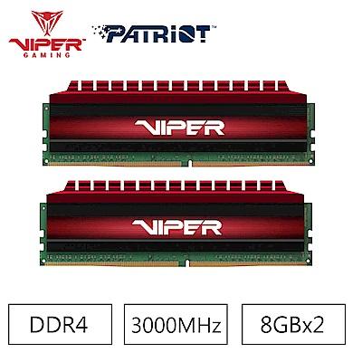 Patriot Viper 毒蛇四代 DDR4 3000 16GB(2x8G)桌上型記憶體