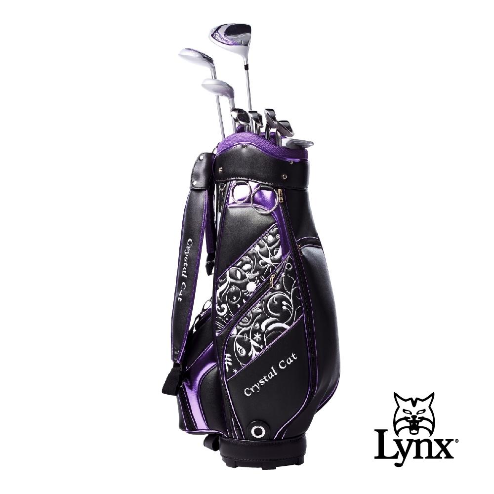 【Lynx Golf】女款Lynx CrystalCat 高爾夫套桿組(附球袋)-黑色