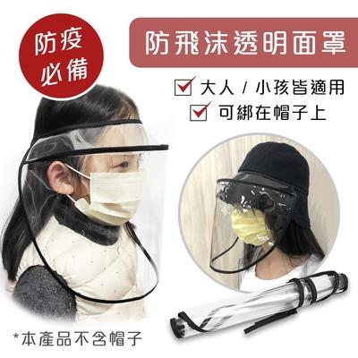 2入組【防疫必備】軟質可收納 TPU防飛沫透明面罩 (帽子可用/大人小孩通用版/防疫防護罩)