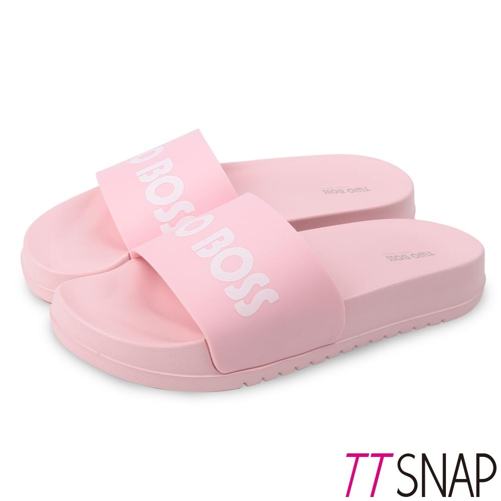 TTSNAP拖鞋-時尚輕量運動彈性防水拖鞋 粉
