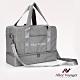 【奧莉薇閣】旅行袋 運動包 行李收納袋 側背包 斜背包 方形大容量(柔霧灰) product thumbnail 2
