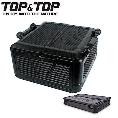 【韓國TOP&TOP】超輕量霸王折疊保溫箱(中型) 保冰 保冷 保溫