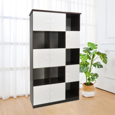 Bernice-3.3尺八門開放式防水塑鋼收納櫃(五色可選)-98x43x180cm