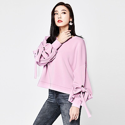 SUITANGTANG 花苞袖設計上衣-紫