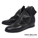 Tino Bellini義大利進口彼德潘內增高短靴_黑