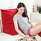 凱蕾絲帝 台灣製超舒適多功能加大三角靠墊/美腿枕1入-棗紅 product thumbnail 1