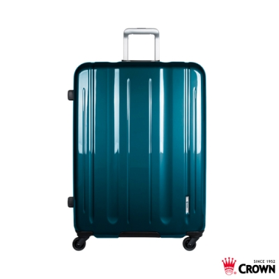 CROWN 皇冠 29吋 LINNER 鋁框拉鍊箱 珠光檳藍