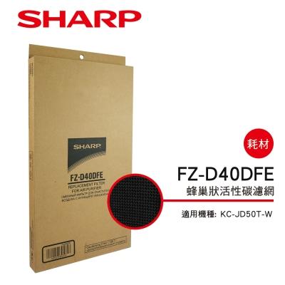 SHARP夏普 FZ-D40DFE 蜂巢狀活性碳濾網 適用:KC-JD/JH50T