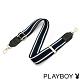PLAYBOY-質感寬版肩背帶系列-藍白直條紋 product thumbnail 1