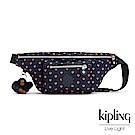 Kipling 腰包 紅黃幾何印花 -小