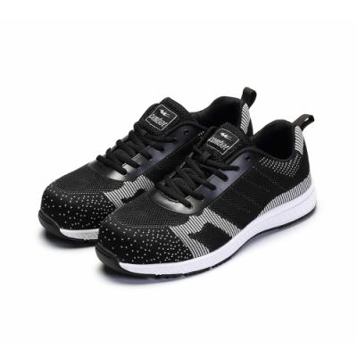 COMBAT艾樂跑男鞋-針織運動鞋-黑灰(FA596)