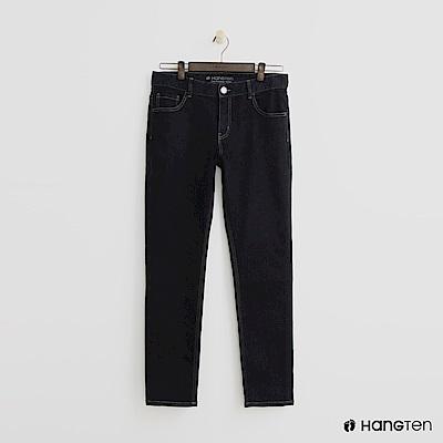 Hang Ten - 男裝 -簡約直筒牛仔褲 - 藍