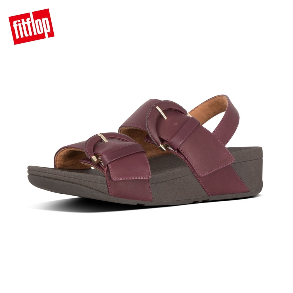 FitFlop AMALITA BUCKLE BACK STRAP SANDALS深莓