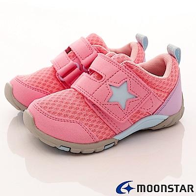 日本月星頂級童鞋 機能抗菌款 TW1664粉(中小童段)