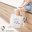野餐系列~台灣製造KITTY印圖麻繩帆布包-OB大尺碼
