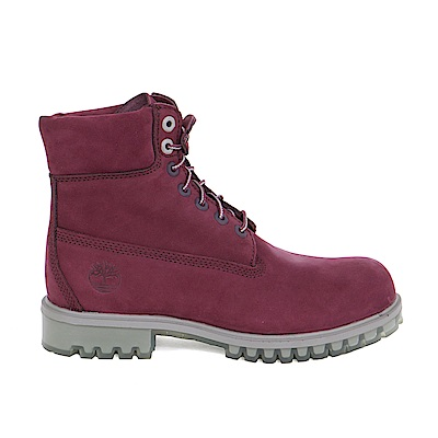 Timberland 男款深紅色絨面TPU款6吋靴 | A1LZFI30