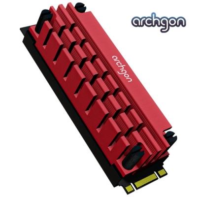 archgon亞齊慷 M.<b>2</b> 2280 SSD 散熱片組 HS-1110-R(紅)