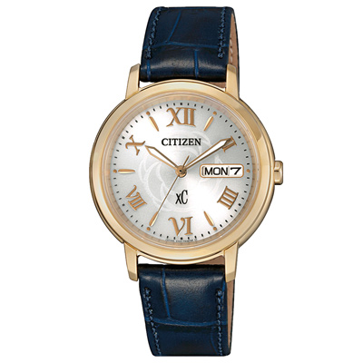 CITIZEN xC 薔薇刻印金女腕錶-EW2422-21A-32mm