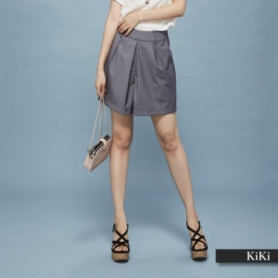 【KiKi】西裝休閒-短褲(二色)