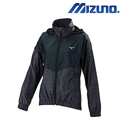 MIZUNO 美津濃 女平織運動套裝上衣 黑 32TC778189