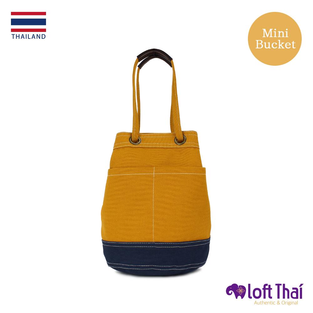 Loft THAI | 泰.兩用帆布水桶包(小) | Mustard/navy @ Y!購物