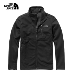 The North Face北面男款黑色防風防潑水外套|3VSFJK3