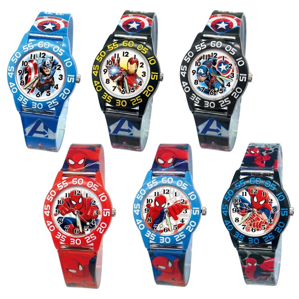 DF童趣館 - 正版授權漫威系列夜光指針兒童數字殼膠手錶-共5色 @ Y!購物