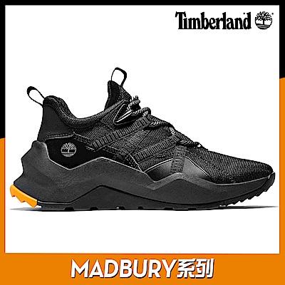Timberland 女款MADBURY黑色織物拼接運動鞋|A42SX