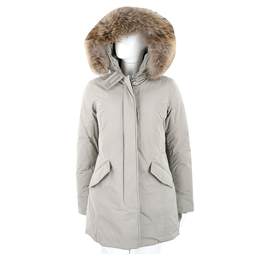 Woolrich Arctic Parka 抗寒耐低溫可拆毛領灰色連帽羽絨外套 product image 1