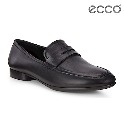 ECCO ANINE 英式方型平底樂福鞋 女-黑