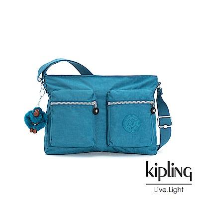 Kipling 靜謐藍綠側背包-CORALIE