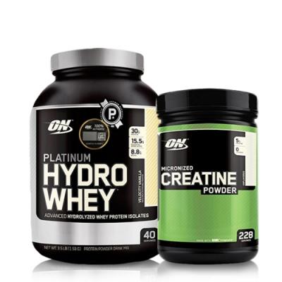[美國 ON]白金級HYDRO水解分離乳清蛋白(3.5磅) 肌酸1200公克